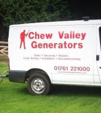 service van towing generator